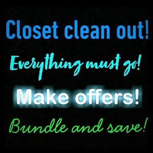 Other - Closet clean out! Make offers but don't low ball